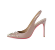 Spiky Slingback Pink Sole Pumps