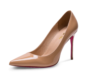 Pointed Toe Pink Sole High Heel Pumps