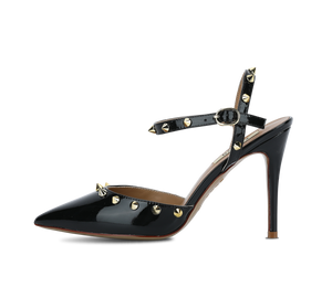 Pointed Toe Studded High Heel Slingbacks