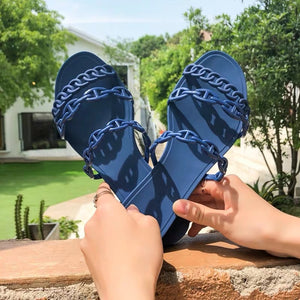 Jelly Chain Beach Sandals Flip Flops