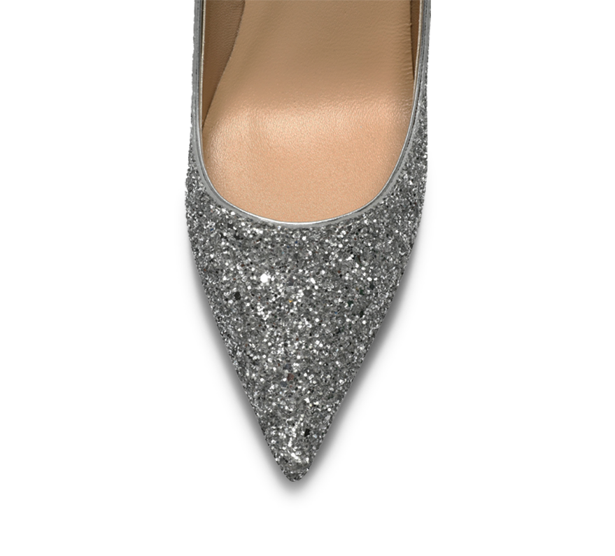 calista glittery high heel pumps