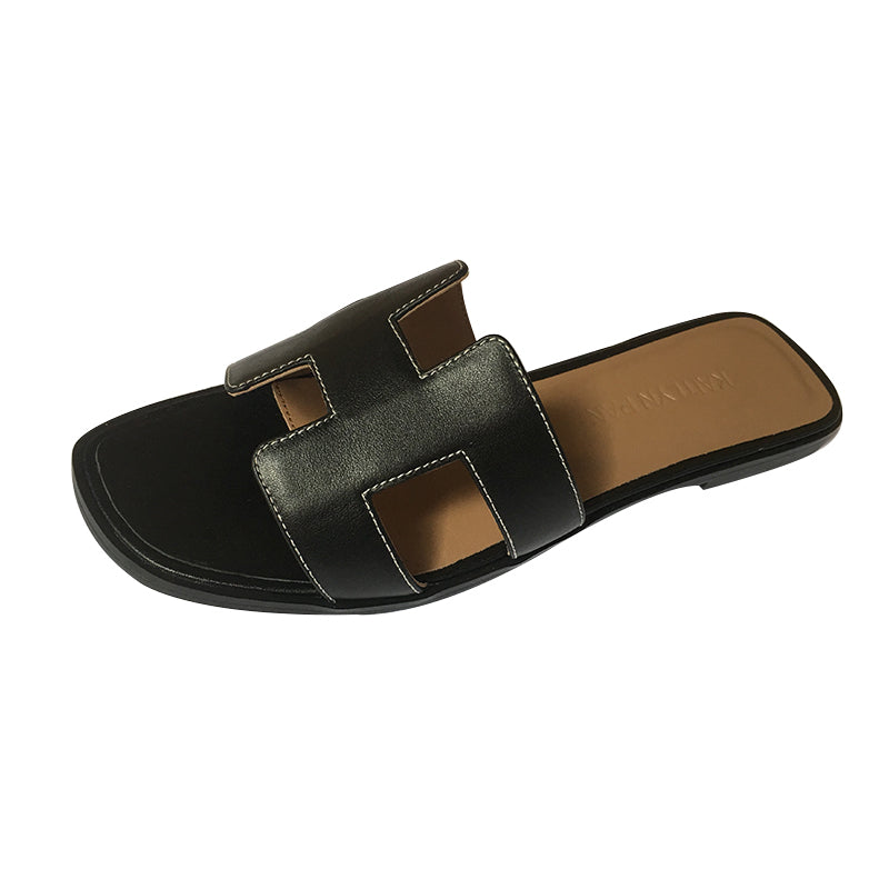 6ff43f843 Genuine Leather Classic Cut Out Kaylee Slippers