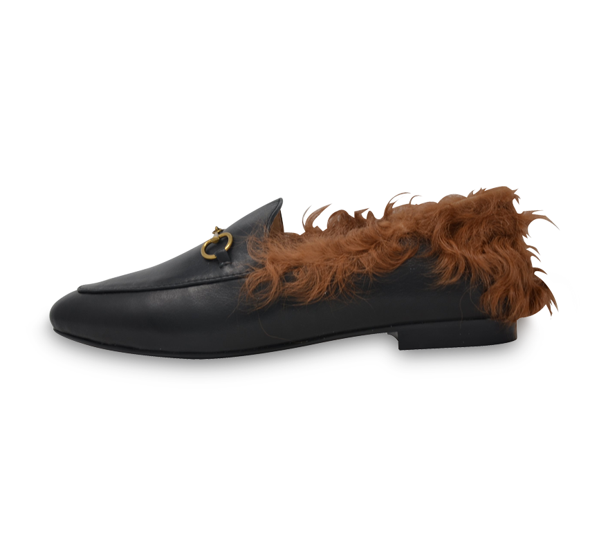 tamara buckled loafers with fur