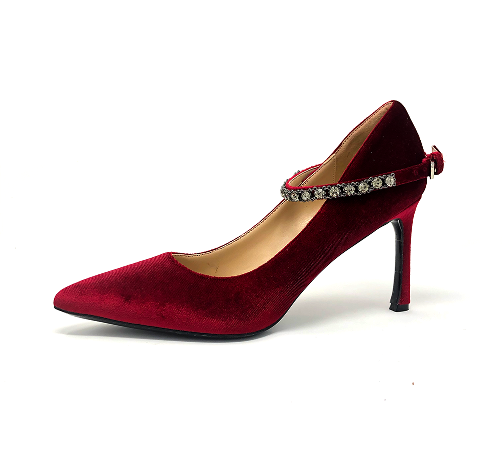 velvet rhinestone high heel - final sale
