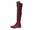 Flat Heel Genuine Leather Over The Knee Boots
