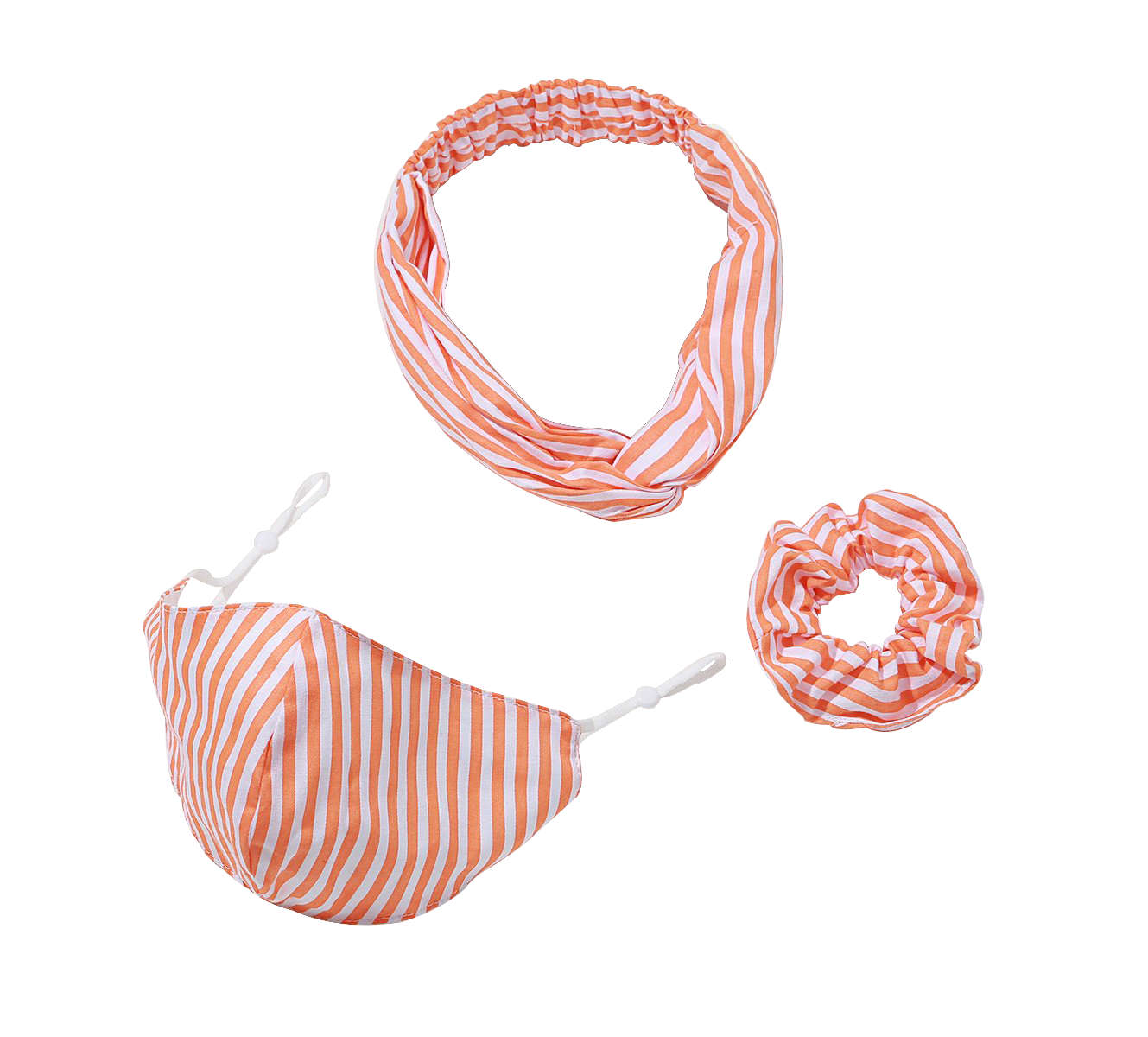 hairband, scrunchie and mask set