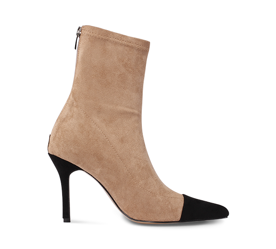 two tone ankle boots