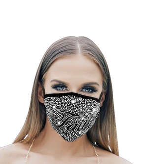 Washable Masks with Rhinestones