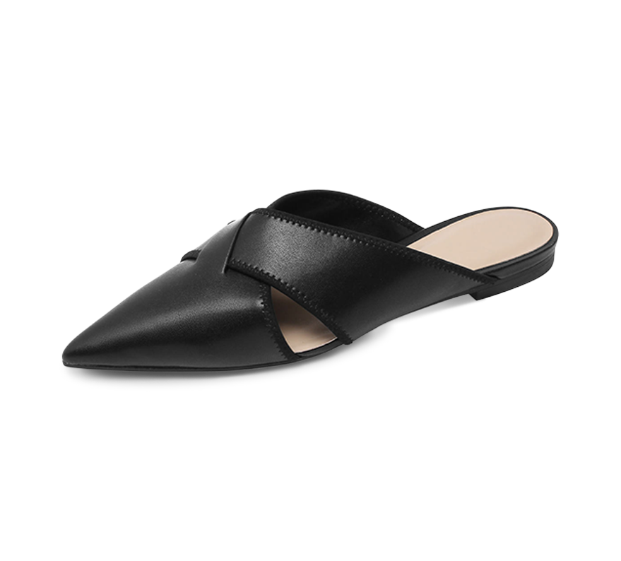 annalise pointed toe mules