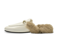 Addy Buckled Flat Mules with Furs