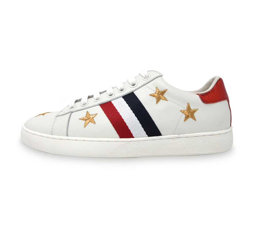 zane sneakers with stripe pattern and stars
