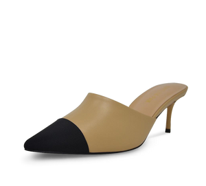 Debra Two Tone Kitten Heel Mules