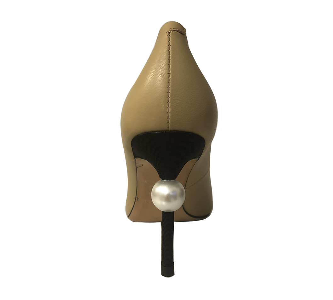 pearl two tone high heel - final sale