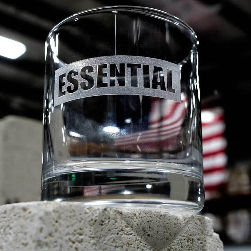 """Essential"" Glass - America Strong - BenShot"