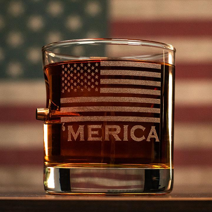 'Merica Rocks Glass - 11oz - BenShot