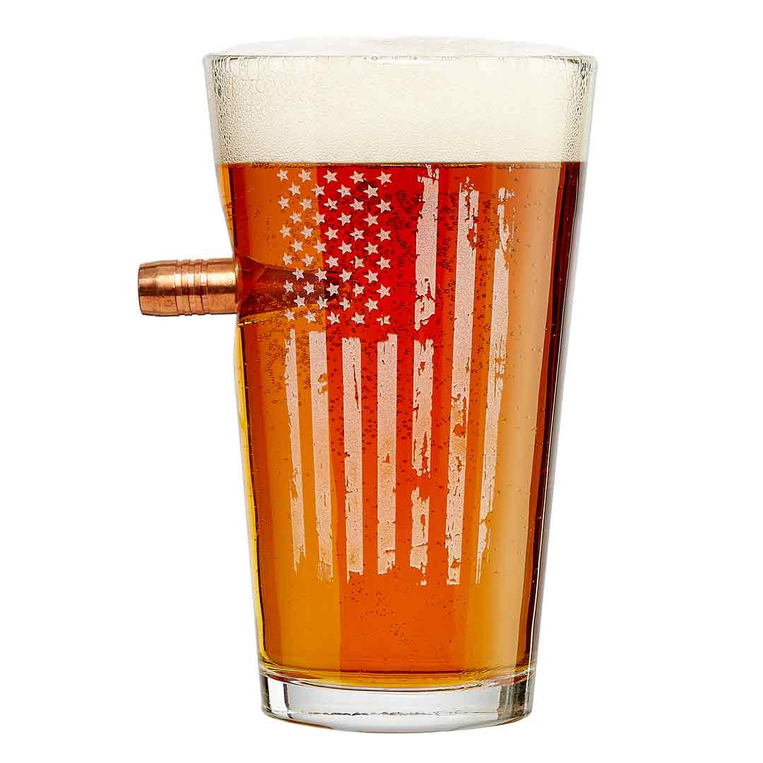 Patriotic Pint Glass- 16oz - BenShot