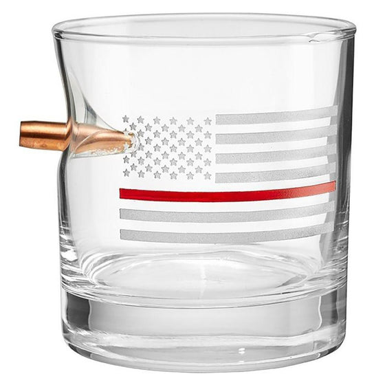 Thin Red Line Rocks Glass - 11oz - BenShot