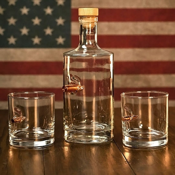 Whiskey Decanter and Rocks Glass Set - BenShot