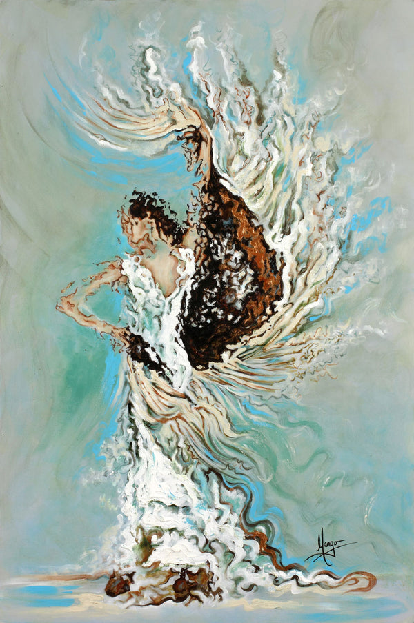 Figurative Woman Flamenco Dancer Painting