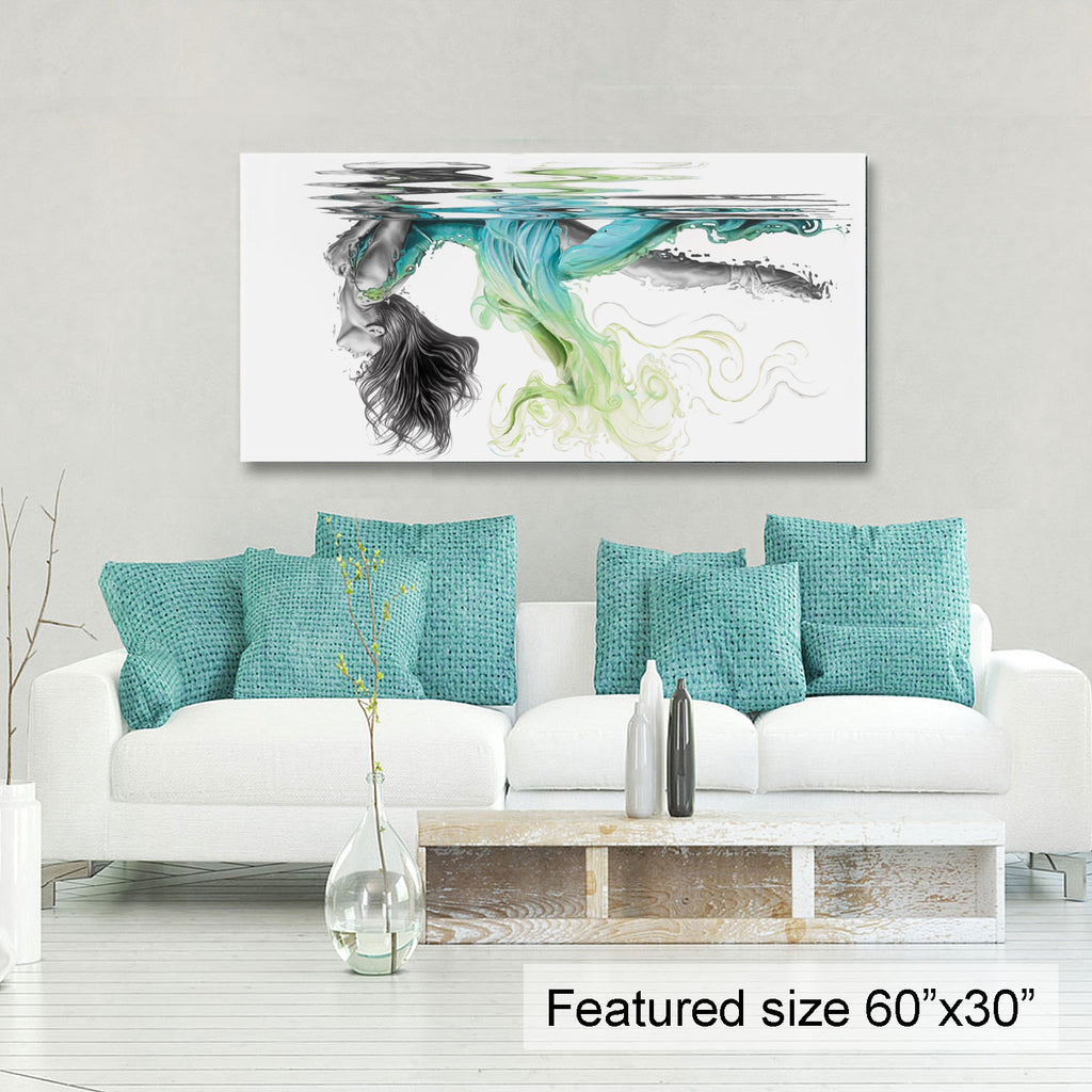 """Peace"" - Limited edition 60""x30"" (green/teal)"