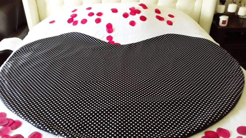 intimate heart mattress protector, sex blanket