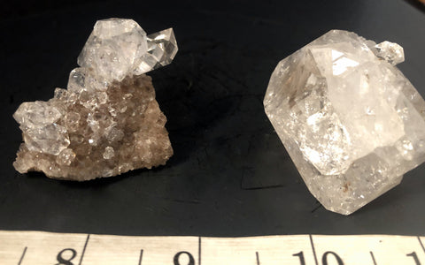 Two-in-one Herkimer Diamond Drusy 114-44 - Of Coins & Crystals