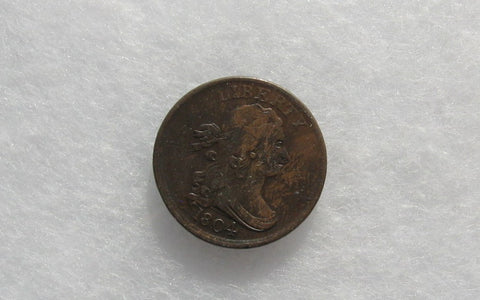 1804 Draped Bust Half Cent XF-40 | Of Coins & Crystals