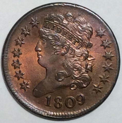1809 Classic Half Cent MS-63 - Of Coins & Crystals