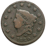 1820 Large Cent  VG-8 - Of Coins & Crystals