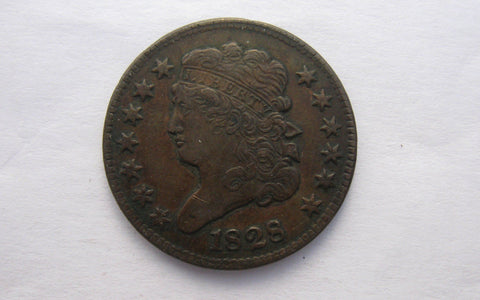 1828 Classic Half Cent  XF-40 - Of Coins & Crystals