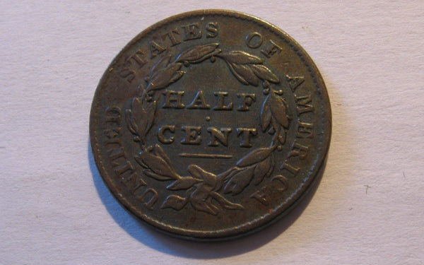 1828 Classic Half Cent   VF-30 - Of Coins & Crystals