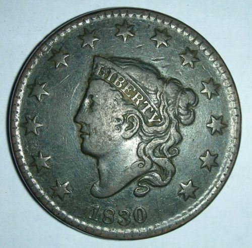1830 Large Cent VF-20 - Of Coins & Crystals