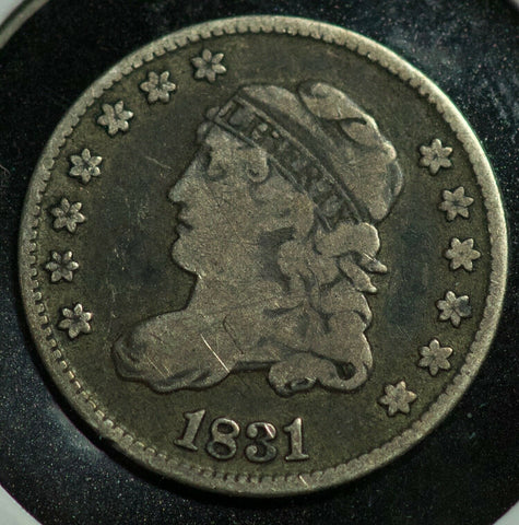 1831 Capped Bust Half Dime F-12 - Of Coins & Crystals