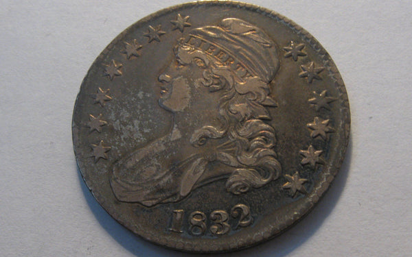 1832 Capped Bust Half Dollar.  XF-40 - Of Coins & Crystals