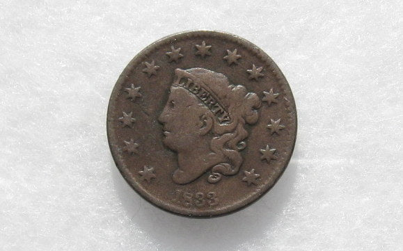 1833 Large Cent VG-10 - Of Coins & Crystals