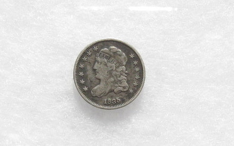 1835 Capped Bust Half Dime VF-20 - Of Coins & Crystals