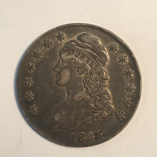 1835 Capped Bust Half Dollar  XF-45 - Of Coins & Crystals