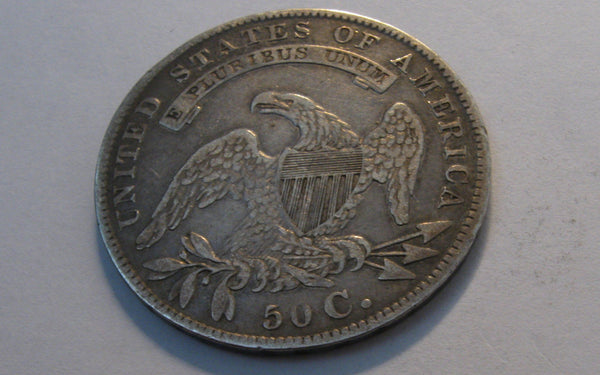 1836 Capped Bust Half Dollar. VF-30 - Of Coins & Crystals