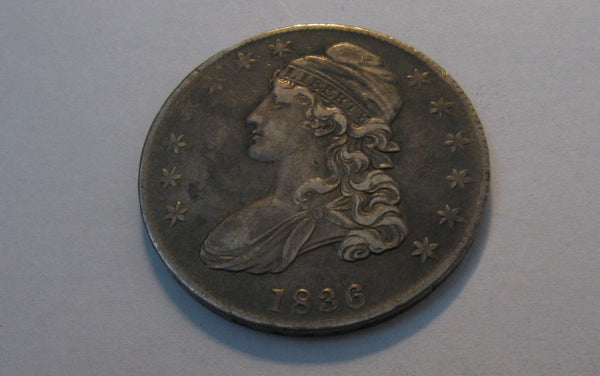 1836 Capped Bust Half Dollar. XF-40 - Of Coins & Crystals