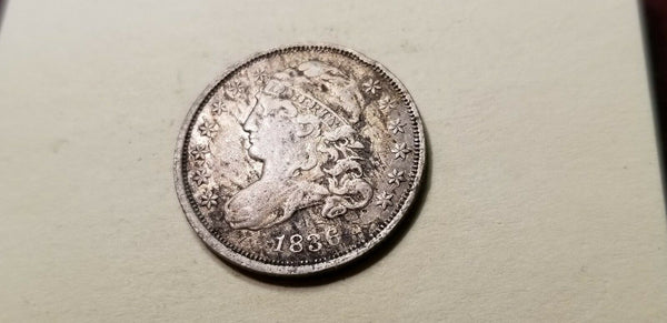 1836  Capped Bust Dime XF-40 - Of Coins & Crystals