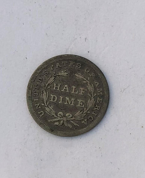 1837 Small date no stars Half Dime G-6 - Of Coins & Crystals