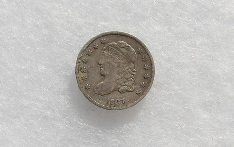 1837 Half Dime Small 5c XF-40 - Of Coins & Crystals