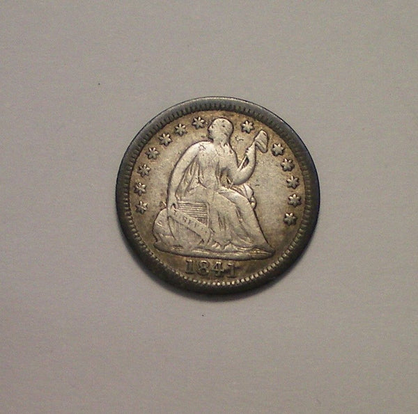 1841 O Half Dime F-15 - Of Coins & Crystals