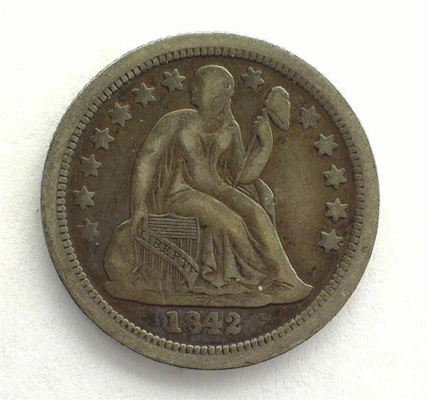 1842 O Seated Liberty Dime XF-40 - Of Coins & Crystals