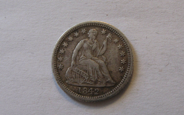 1842 O  Seated Liberty Half Dime. XF-40 - Of Coins & Crystals