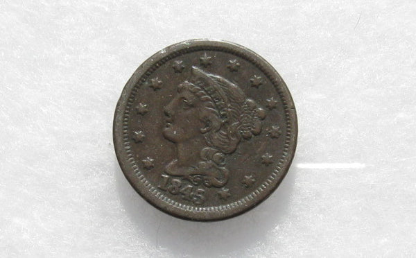 1845 Large Cent  XF-40 - Of Coins & Crystals