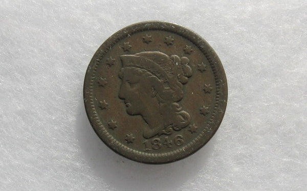 1846 Large Cent F-12 - Of Coins & Crystals