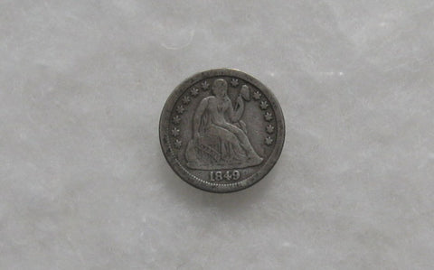 1849 O Seated Liberty Dime F-15
