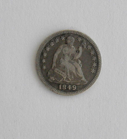 1849 Half Dime VF-20 - Of Coins & Crystals