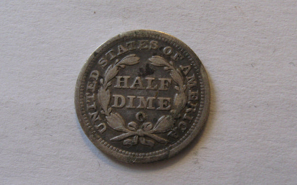 1850 O Seated Liberty Half Dime.  VF-20 - Of Coins & Crystals